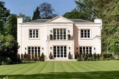 The UK is known for its historic, yet stately, country homes, but a newly-built mansion on the market for $27 million in the chic Wentworth Estate area of Surrey is making waves this week in the Wall Street Journal. The 9,600-square-foot, five-bedroom home features four reception rooms, an indoor pool and wine cellar, as well as …