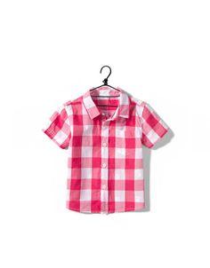 рубашка клетки - Рубашки - Одежда для малышей (мальчиков) (3-36 месяцев) - Детская одежда - ZARA Россия