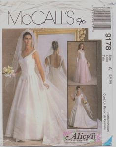90s McCalls Pattern 9178 Alicyn Exclusives Womens by CloesCloset, $12.00