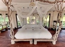 Beautiful idea for newlyweds - if you can't afford a tropical honeymoon, make your own.