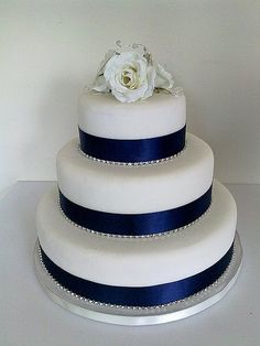 navy wedding cake ideas - Google Search