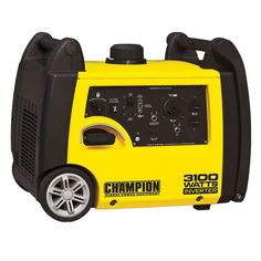 The Champion Power Equipment 75531i gasoline powered, portable inverter generator is powered by an 171cc Champion single cylinder, 4-stroke OHV engine that prod