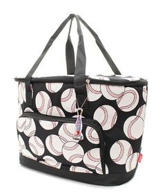 Baseball Print Insulated Cooler Bag Free by MonogrammedbyMeeMee, $32.00