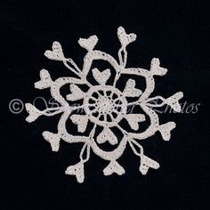 This snowflake is an adaptation of my Century Snowflake , created because the Century Snowflake was too big to fit on my still unfinished a. Crochet Stars, Crochet Snowflakes, Snowflake Pattern, Crochet Flowers, Crochet Christmas Ornaments, Snowflake Ornaments, Christmas Decor, Christmas Tree, Xmas Crafts