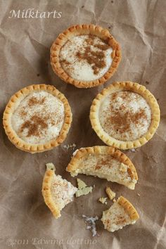 A firm favourite in South Africa- Milk Tart. Delicious Desserts, Dessert Recipes, Yummy Food, Milk Tart, Custard Tart, South African Recipes, Something Sweet, Sweet Tooth, Sweet Treats