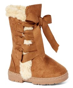This Cognac Ribbon Boot by Chatz by Chatties is perfect! #zulilyfinds