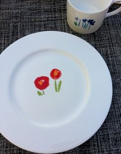 Dish-spiration: punchy floral designs on the breakfast plates at Castell Son Claret in Mallorca