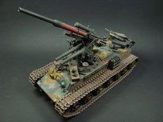 German 88mm Gun Flak36 on Pz.Kpfm.KV-1 756(r) Tank by Hakan Guney