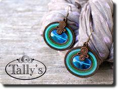 Zobacz produkt: Kolczyki niebo Soutache Bracelet, Soutache Pendant, Soutache Jewelry, Beaded Earrings, Beaded Jewelry, Handmade Jewelry, Jewellery, Soutache Pattern, Soutache Tutorial