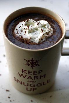 Salted caramel vodka hot chocolate. #food #drinks #hot_chocolate #winter