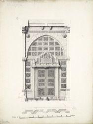 Titel   Ahmadabad: Inner front door to tomb of Shah Alam   Surveyor : Burgess…