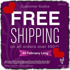 Younique's February 2016 Customer Kudos! Amazing deal!! :D Normal free shipping is for $100!! Take advantage this month! Order at https://www.youniqueproducts.com/tanayaphelps