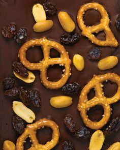 Who can resist velvety chocolate -- bittersweet, milk, or white -- topped with nuts, candy, or dried fruit? Try our other bark variations, or experiment with your own favorite flavors.