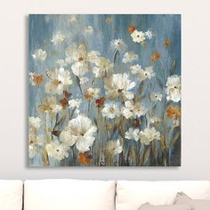 Delicate blooms will bring life into your home with this beautiful Sweet Escape Giclee Canvas Art Print. It will look great hanging on your living room wall. Canvas Art Prints, Abstract Art Painting, Flower Art Painting, Canvas Art Painting Acrylic, Oil Painting Inspiration, Abstract Ocean Painting, Diy Canvas Art Painting, Canvas Giclee, Canvas Art