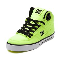 DC Spartan Hi Skate Shoe in Neon Lime at Journeys Shoes. Available for shipment in June; pre-order yours today!