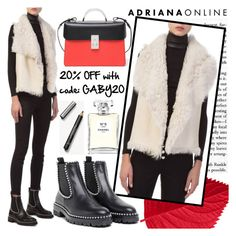 """""""ADRIANA ONLINE: White Vest"""" by gaby-mil ❤ liked on Polyvore featuring Chanel, The Volon, Alexander Wang and Burberry"""