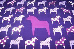 Baumwoll Jersey Kinder Stoff Pferd Dots Punkte lila Vicente Öko-Tex Standard 100