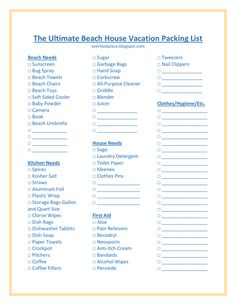 Free Printable Vacation Packing List Pdf From VertexCom