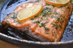 Pan Roasted Steelhead Trout - and now I want a cast iron skillet. Fresh Seafood, Fish And Seafood, Rainbow Trout Recipes, Cooking Ideas, Cooking Recipes, Cooking Trout, Cast Iron Recipes, Cast Iron Skillet, Roasting Pan