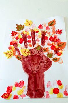 Het is weer herfst! De leukste herfst tekeningen voor kinderen die ze met hun handen kunnen maken! Nr. 4 is zo leuk! - Zelfmaak ideetjes
