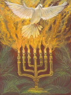"""The one who has the seven-fold Spirit of Yahweh""""  """"الحمل المذبوح الَّذِي لَهُ سَبْعَةُ أَرْوَاحِ اللهِ....""""A shoot will grow from His roots and a branch of Jesse from His stem shall bear fruit.  The Spirit of Yahweh will rest on Him--the Spirit of wisdom and of understanding, the Spirit of counsel and of power, the Spirit of knowledge and of the fear of Yahweh."""" Isaiah 11:1-2"""