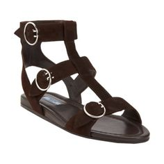 Prada Triple Strap Gladiator Sandal at Barneys.com