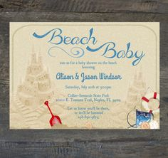 Hey, I found this really awesome Etsy listing at http://www.etsy.com/listing/153832204/baby-shower-invitation-beach-baby