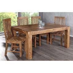 Superbe table à manger contemporaine coloris naturel! Fabriquée en bois massif de haute qualité et permet d'accueillir jusqu'à 6 personnes. Elle est simple,...