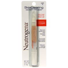 real techniques by sam chapman  make up discount coupon code:JWH658,$10 OFF iHerb Neutrogena, Skin Clearing Blemish Concealer, Light 10, 0.05 oz (1.4 g)