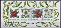 Sello: Winterberries (Dinamarca) (Winterberries) Mi:DK BL34,Yt:DK C1514-2,AFA:DK 1560