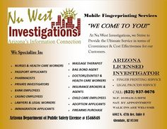 NU WEST INVESTIGATIONS   #AZSEASONSMAGAZINE