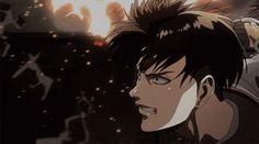 Levi Ackerman, Levi X Eren, Erin Attack On Titan, Attack On Titan Season, Attack On Titan Anime, Anime Love, Anime Guys, Manga Anime, Aot Gifs