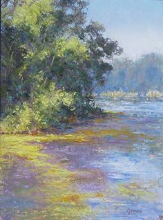 "Poetry of a Pond by Kathy Detrano Pastel ~ 12"" x 9"""