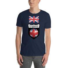 England Short-Sleeve Unisex T-Shirt Designer Wear, How To Make, How To Wear, England, Unisex, Hoodies, Mother Earth, Celebrities, Sleeves