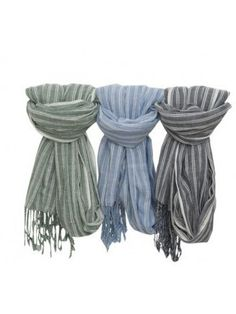 CO WOOVEN STRIPES SCARF.  SUMMER 2015. STRIPES. MENS . STYLE. ACCESSORIES Scarf Summer, Striped Scarves, Summer 2015, Garden Sculpture, Men's Fashion, Weaving, Stripes, Accessories, Collection