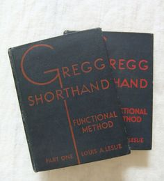 Vintage book, Gregg Shorthand, book set, gift set, secretary, typist, stenographer, how to, Mad Men, DIY, His Girl Friday, secret codes, spy on Etsy, $25.00