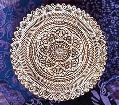 Giant mandala stamp finely carved traditional Indian Henna carved wood block on Etsy, $84.00 AUD