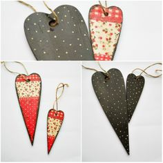 Items similar to 2 Wood Heart Decoupage Napkin Hand Painted wall Decor Ornament Door Wreath Red Polka Dots on Etsy Flower Ornaments, Christmas Ornaments, Heart Flower, Hand Painted Walls, Door Wreaths, Wedding Stuff, Decoupage, Dots, Wall Decor