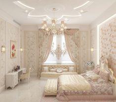 Baby Design for Girl - Luxury Antonovich Design Rich Girl Bedroom, Fancy Bedroom, Pretty Bedroom, Room Ideas Bedroom, Bedroom Decor, Luxury Bedroom Sets, Luxury Dining Room, Luxurious Bedrooms, Pink Bedroom Design