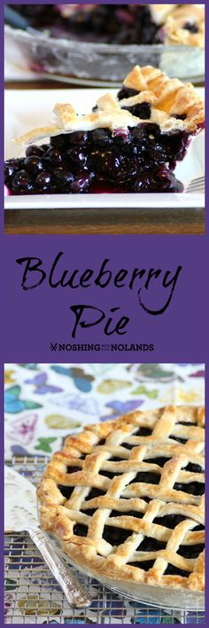 The perfect blueberry pie recipe. Plump, juicy blueberries on a tender, flaky homemade pie crust (we use lard for the best results). You'll love this dessert recipe! Homemade Blueberry Pie, Blueberry Pie Recipes, Tart Recipes, Sweet Recipes, Homemade Pie, Easy Desserts, Delicious Desserts, Yummy Food, Awesome Desserts