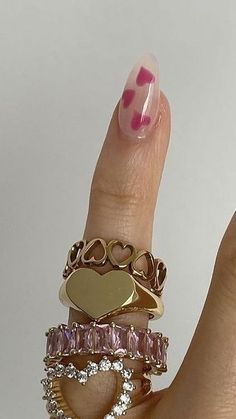 Cute Acrylic Nails, Cute Nails, Pretty Nails, Cute Jewelry, Jewelry Accessories, Acylic Nails, Nail Ring, Bling, Accesorios Casual