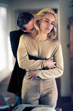 Michael Douglas & Sharon Stone in Basic Instinct