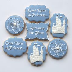 Sofia the first inspired cookies by Miss Biscuit