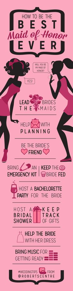 So Your BFF Got the Ring - How to Be the Best Maid of Honor #RobertsCentre #Weddings