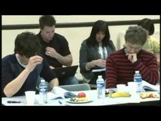 Sherlock BBC Audition Clips he's even wearing a striped sweater in the audition :)