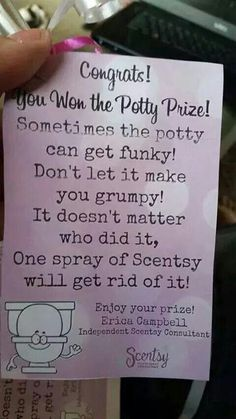 Potty prize! Such a cool game idea. Contact me by email at stephwilson84@yahoo.com or check out my website stephwilson84.scentsy.us #scentsy #scentsygameprize #scentsygame