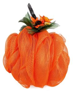 Nicole™ Crafts Deco Mesh Pumpkin #decomesh #wreath #halloween
