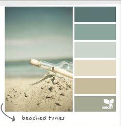 My dream palette! Perfect Coastal and Beach Decor: Coastal Decor Color Palette - Beached Tones Colour Schemes, Color Combos, Colour Palettes, Beach Color Schemes, Paint Palettes, Colour Chart, Wall Colors, House Colors, Pantone