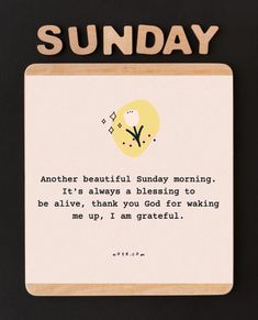 Blessed Sunday, Thank You God, I Am Grateful, Wake Me Up, A Blessing, Beautiful Day, Amen, Prayers, Lord