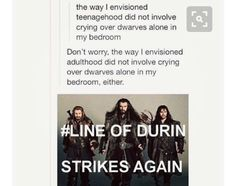 So true. My 56 year old dad and I both cry when Thorin dies.